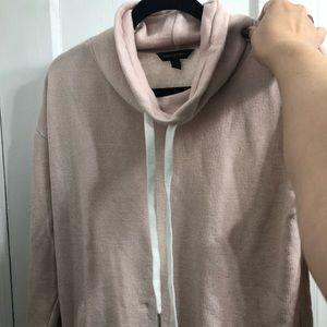 BANANA REPUBLIC sweatshirt mock neck light pink!